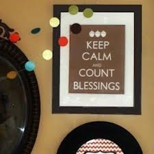 keep calm count your blessings