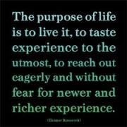 purpose of life is to live and give
